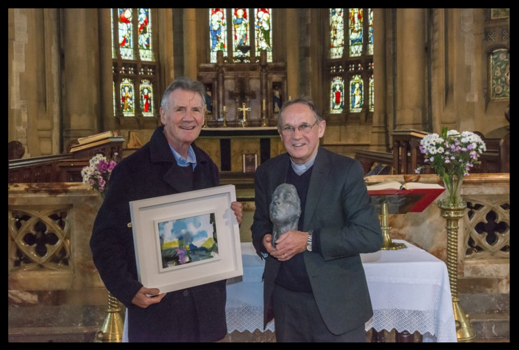 Michael Palin and Reverend Chris Brice at St. Martins